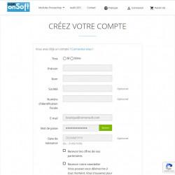 Démo Prestashop 1.7 avec le module Invisible reCAPTCHA sur le formulaire de d'inscription client.