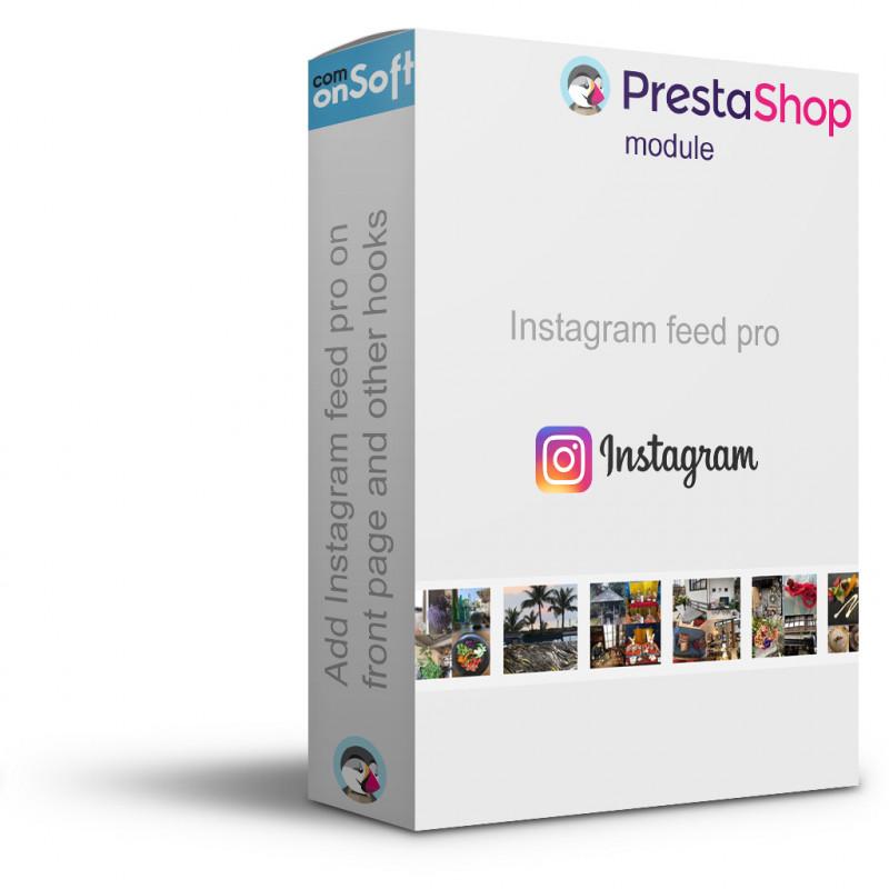 Module Prestashop Bloc Photo et video Instagram