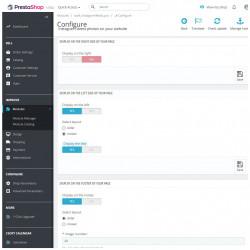 Back-office du module Prestashop Bloc Photo Instagram, compatible avec la nouvelle API