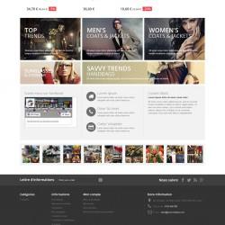 Démo Prestashop avec le module gratuit Bloc Photo Instagram sur la page d'accueil