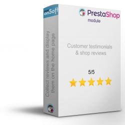 Module Prestashop Témoignages clients et avis boutique