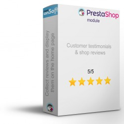 Prestashop module Customer testimonials and store reviews
