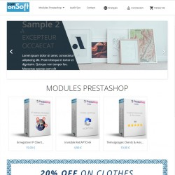 Prestashop front office demo Show products of a category on the home page