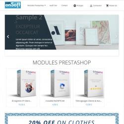 Démo front office du module Prestashop Afficher les produits d'une catégorie sur la page d'accueil