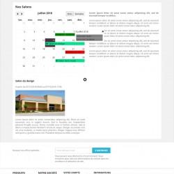 Démo Prestashop module Calendrier d'événements pour pages CMS