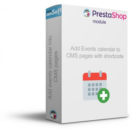 Prestashop module Calendar of events for CMS pages